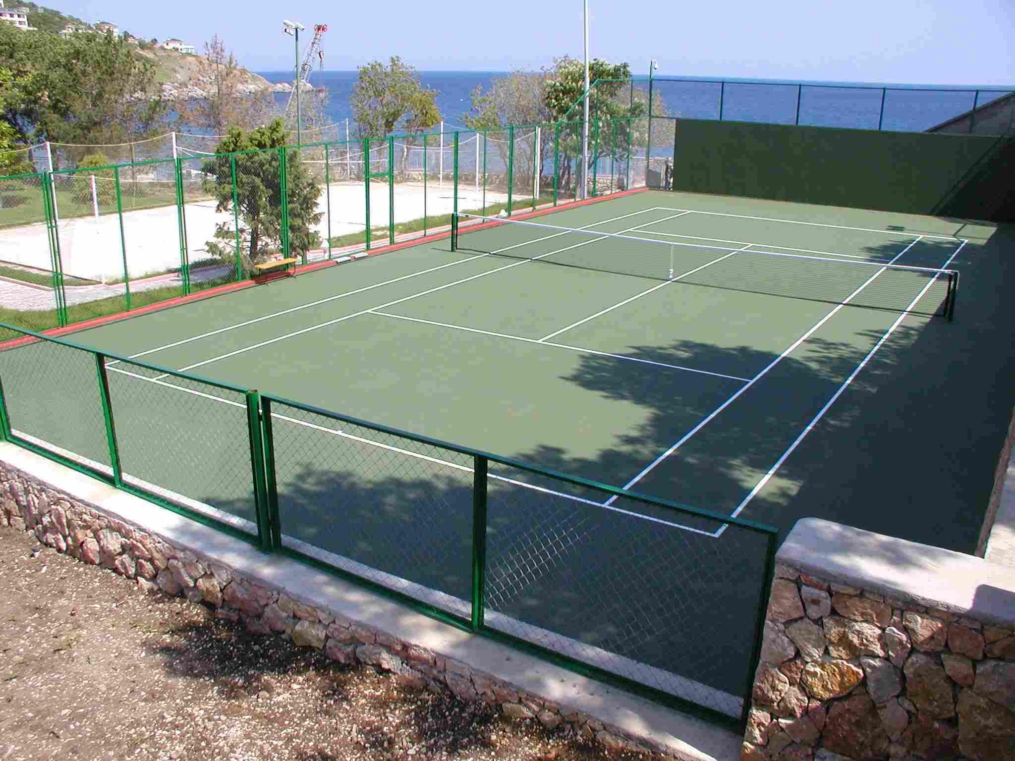 Грунтовый теннисный корт своими руками 11